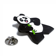 Large Lapel Pin (Panda Character Meeple)