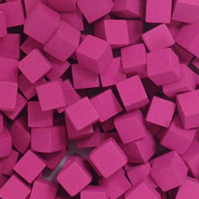 Pink Wooden Cubes (8mm)