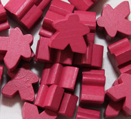Pink Meeples (16mm)