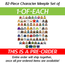 PRE-ORDER: 1-of-each of all 82 New Character Meeples from Kickstarter (82 pcs)