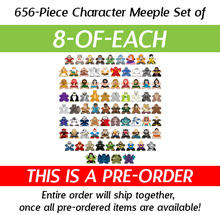 PRE-ORDER: 8-of-each of all 82 New Character Meeples from Kickstarter (656 pcs)