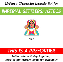 PRE-ORDER: Character Meeples for Imperial Settlers [Aztecs] (12 pcs)
