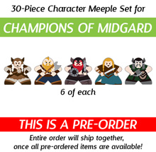 PRE-ORDER: Character Meeples for Champions of Midgard (30 pcs) - Est. shipping date May 2017