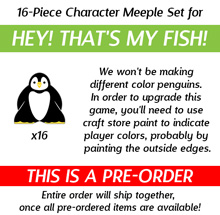 Character Meeples for Hey! That's My Fish! (16 pcs)