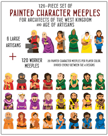 PRE-ORDER: 126-piece Character Meeple Set for Architects of the West Kingdom and Age of Artisans - estimated ship date October 2020