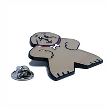 Large Lapel Pin (Puppy Character Meeple)