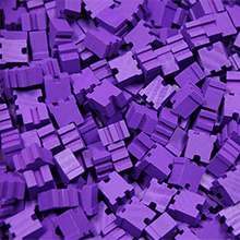 Purple City Bits (15mm)