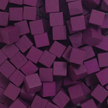 Purple Wooden Cubes (8mm)