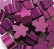 Purple Meeples (16mm)