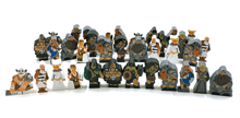 35-piece Set of Large Character Meeples for Raiders of the North Sea