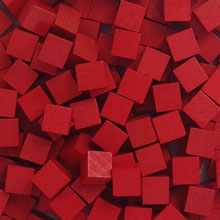 Red Wooden Cubes (8mm)