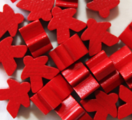 Red Meeples (16mm)
