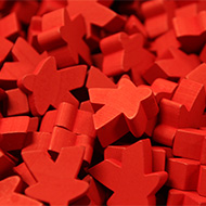 Red Super Mega Meeples (24mm)