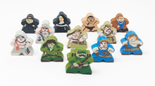 Robinson Crusoe Character Meeple Set (12-Piece Set + Round Marker and Dog)