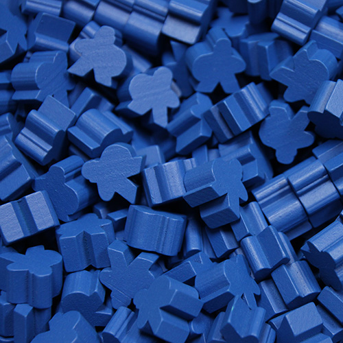 Blue Saxon Meeples (16mm) - These are NOT the regular meeple shape!