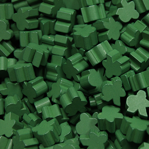 Green Saxon Meeples (16mm) - These are NOT the regular meeple shape!