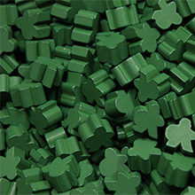 Green Saxon Meeples (16mm)