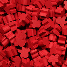 Red Saxon Meeples (16mm)