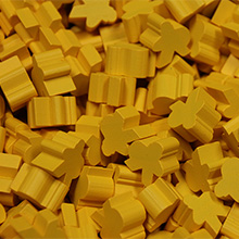 Yellow Saxon Meeples (16mm) - These are NOT the regular meeple shape!