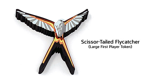 IMPERFECT: Large Scissor-Tailed Flycatcher First Player Token for Wingspan