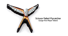 Large Scissor-Tailed Flycatcher First Player Token for Wingspan