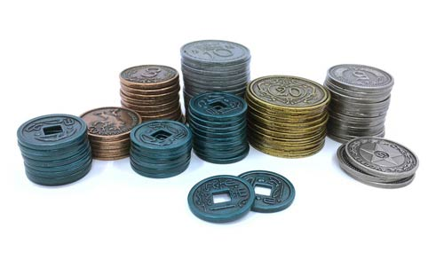 Set of Custom Metal Kickstarter Coins for Scythe (80 pcs) - (Stonemaier Games)