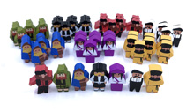 Full Set of Worker Meeples for Scythe and Invaders From Afar (56 pcs)