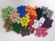 Set of 150 Cubes (8mm - 14 different colors)