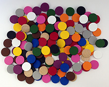 DISCONTINUED: 15mm Discs (3mm thick, multiple color choices)