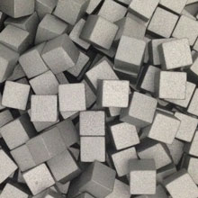Silver Wooden Cubes (8mm)