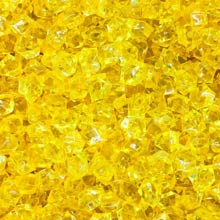 Yellow (Translucent) Acrylic Gems (Small)
