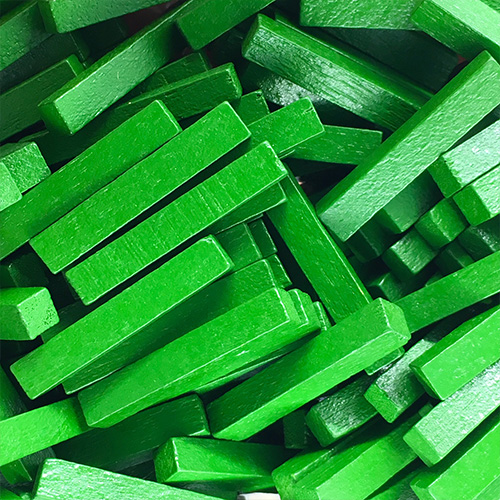 Green Wooden Sticks (4x4x25mm)