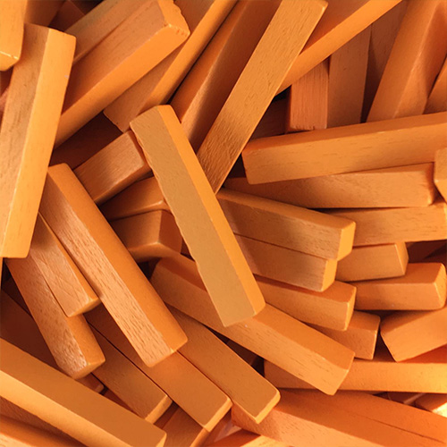 Orange Wooden Sticks (4x4x25mm)