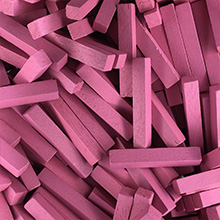 Pink Wooden Sticks (4x4x25mm)