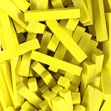 Yellow Wooden Sticks (4x4x25mm)