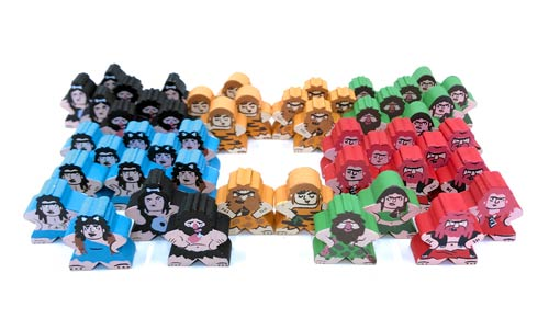 50-Piece Character Meeples Set (Compatible with Stone Age)