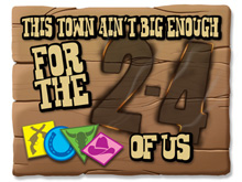 This Town Ain't Big Enough for the 2-4 of Us (Microgame Envelope - No box)