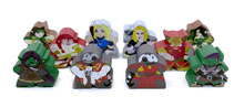 Tiny Dungeon Character Meeples (10-Piece Set)