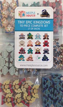 Tiny Epic Kingdoms Complete Set of Character Meeples (112 pcs)