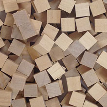 Unpainted Wooden Cubes (8mm)
