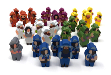 37-Piece Set of Character Meeples for Viticulture