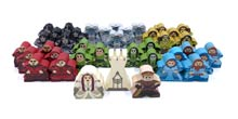 Lords of Waterdeep Agents (38-Piece Character Meeple Set) + Deluxe Castle Piece