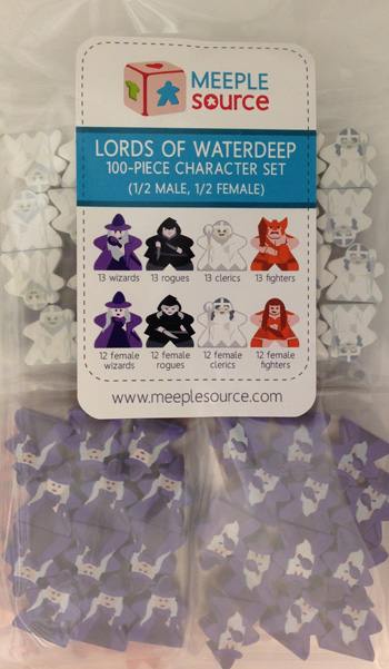 Character Meeple Set for Lords of Waterdeep (100 pcs) - Half Male / Half Female