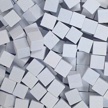 White Wooden Cubes