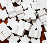 White Meeples (16mm)