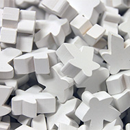 White Super Mega Meeples (24mm)
