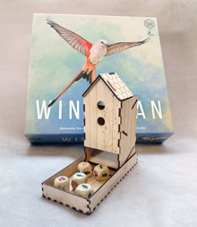 Wooden Wingspan Dice Tower Kit