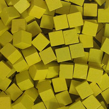 Yellow Wooden Cubes (8mm)