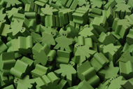 Green Alien Meeples (16mm)